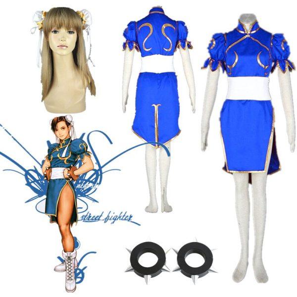 Cosplay street fighter chun li bleu